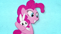 Pinkie Pie rocking Angel in her hooves BFHHS2.png