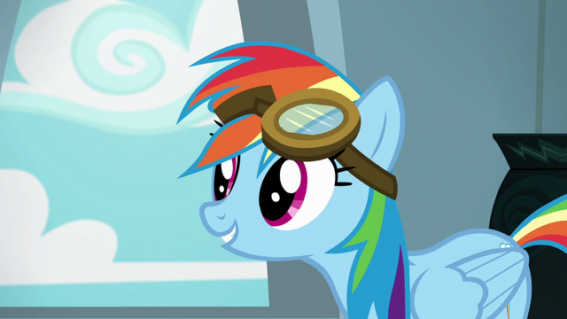"File:Rainbow Dash ""I'd stand out more if I didn't"" S6E7.png"