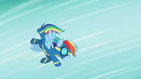 Rainbow flies helplessly through the air S6E7