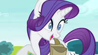"Rarity laughing at ""Rariot"" joke S4E23"
