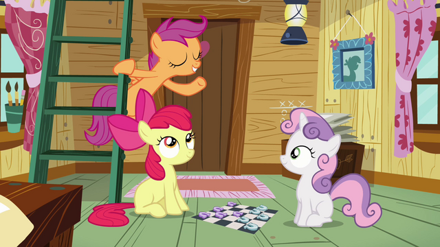 File:Scootaloo goes up to the ladder S3E06.png
