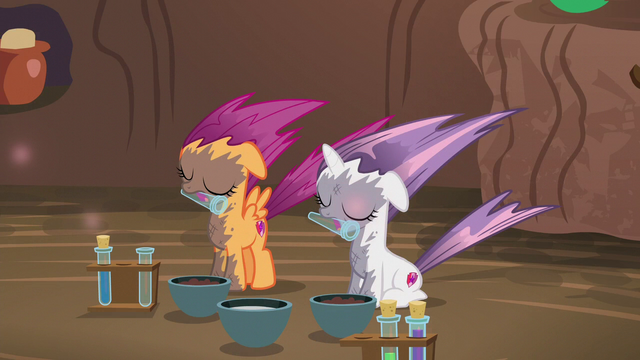 File:Sweetie Belle and Scootaloo affected by the explosion S6E4.png