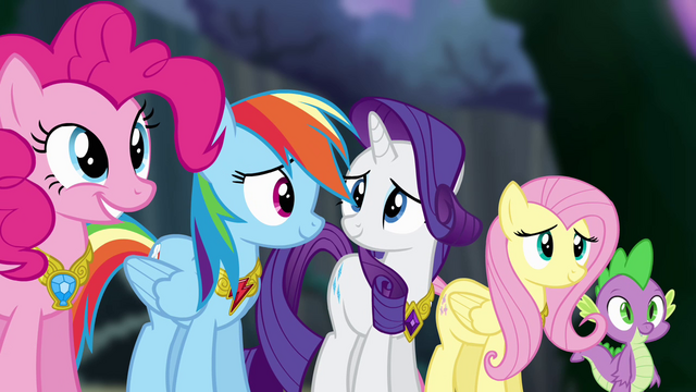 "File:Twilight's friends ""it will never, ever be broken"" S4E02.png"