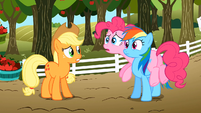 Applejack, Pinkie Pie and Rainbow Dash S02E15
