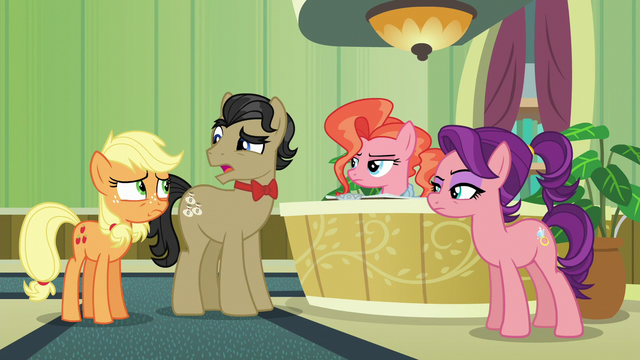"File:Filthy Rich ""heard about a pony with apple blight"" S6E23.png"
