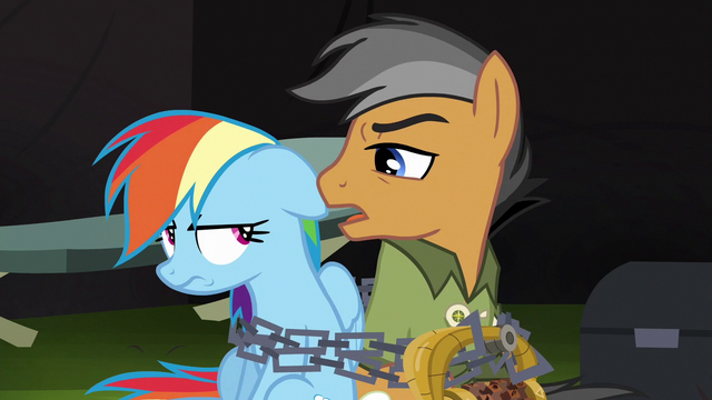 """File:Quibble """"you're gonna stick with that script"""" S6E13.png"""