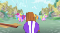 Scootaloo heads for a ramp S1E18