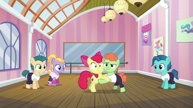 File:Apple Bloom and dancing colt tango S6E4.png