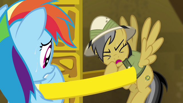 "File:Daring Do ""didn't count on how heavy this ring would be"" S4E04.png"