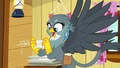 Gabby holding Gilda's letter to Rainbow Dash S6E19.png