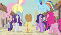 Mane Six enter the village S5E01