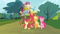 Pinkie Pie and the Apple family together S4E09.png