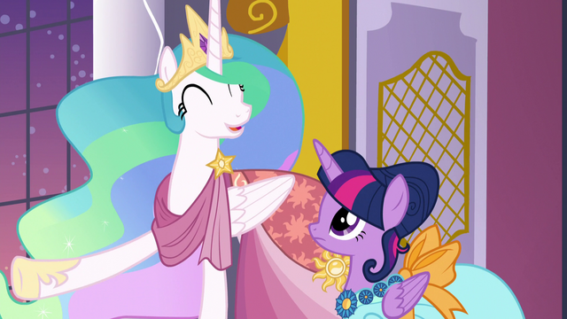 "File:Princess Celestia ""the most fun Gala in years!"" S5E7.png"