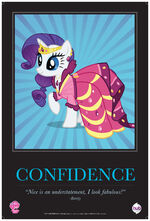 "Rarity ""Confidence"" poster from ComicCon 2012"
