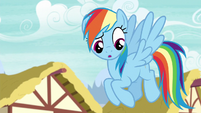 Rainbow Dash hears Scootaloo S6E7