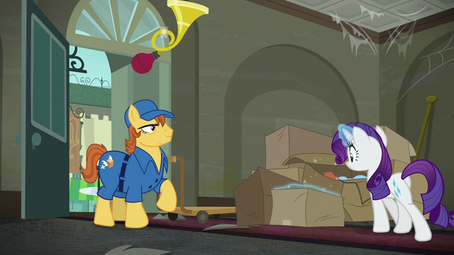 File:Rarity approaching the delivered packages S6E9.png