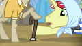 Flim pointing at old pony's legs S4E20.png