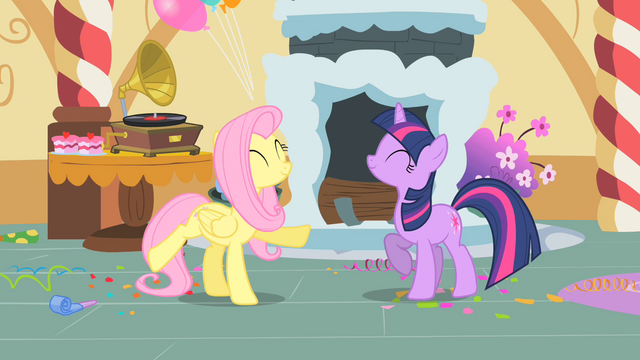 File:Fluttershy and Twilight are dancing S1E25.png