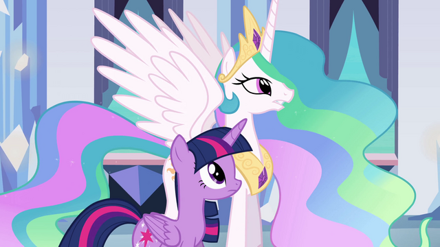 File:Princess Celestia talking to Twilight EG.png