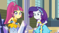 Rarity and Sour Sweet looking at Sugarcoat EGS1