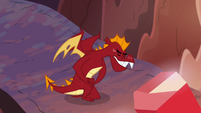 Garble bowing to Dragon Lord Spike S6E5