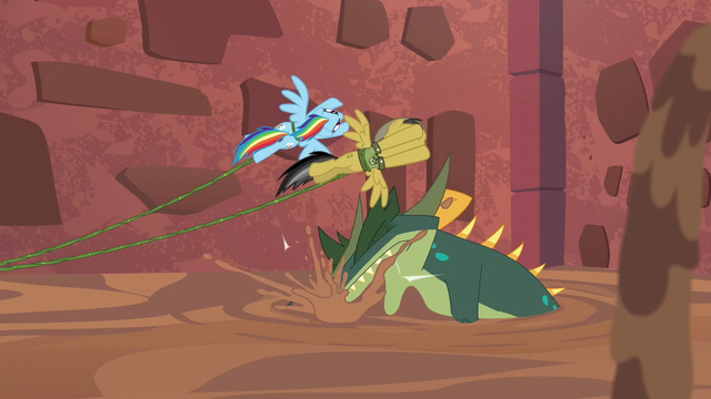 File:Rainbow and Daring dodge Cipactli's bite S6E13.png