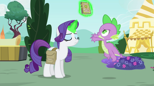 File:Rarity levitates the book away from Spike S4E23.png