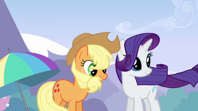 File:Applejack and Rarity feel the drift S3E7.png