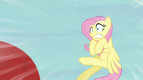 Fluttershy scared of the incoming ball S6E18