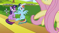 Rainbow Dash & Twilight see Fluttershy S2E22
