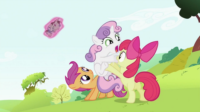 File:Apple Bloom holding Sweetie Belle off S2E03.png