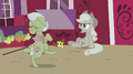 Applejack talking while Granny Smith is dancing S2E02.png
