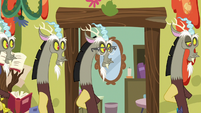 Discord and his duplicate pace around the room S7E12