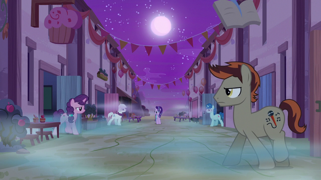 File:Dream Our Town ponies emerge from their homes S6E25.png