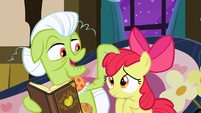 Granny Smith tousles Apple Bloom's mane S3E8