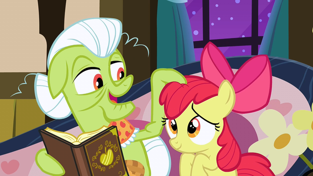 File:Granny Smith tousles Apple Bloom's mane S3E8.png