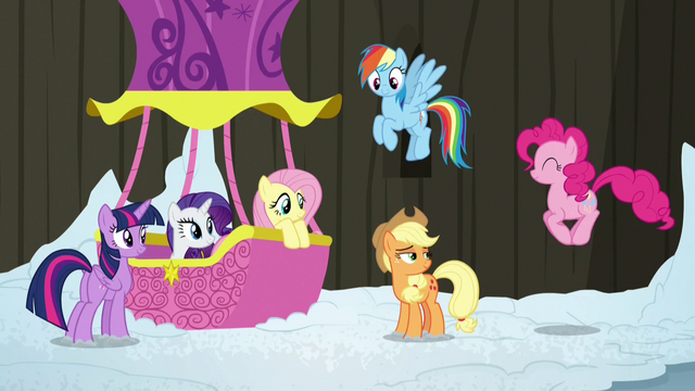 File:Pinkie Pie hopping to join her friends S7E11.png