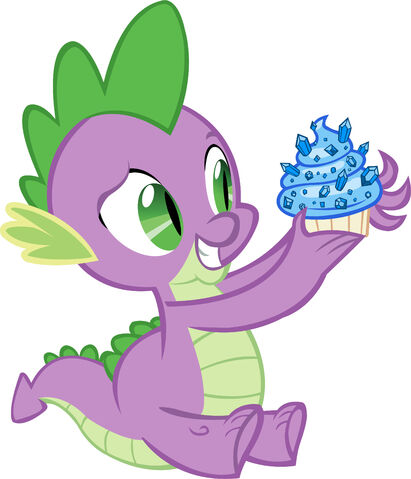 File:Spike with a sapphire cupcake.jpg