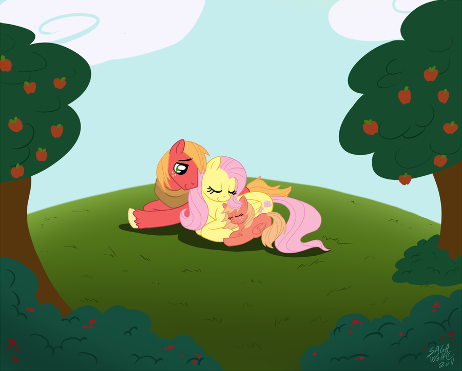 Image - FANMADE 46825 - big macintosh family filly fluttermac ...