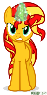 Sunset Shimmer Is Angry by Flash-draw