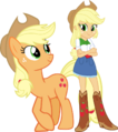 Applejack and applejack by hampshireukbrony-d6mtmym.png