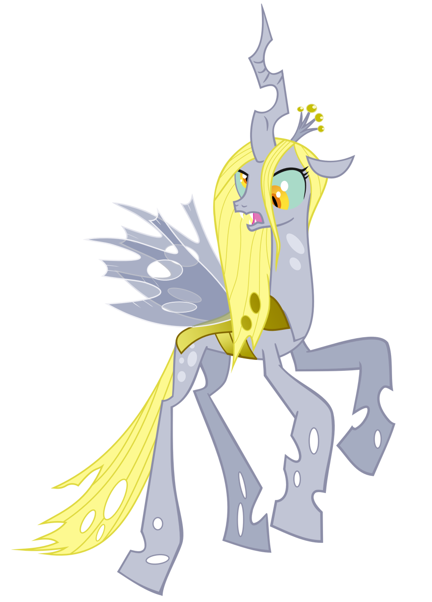 Image queen chrysalis recolor with derpy by artist for Queen chrysalis coloring pages