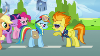 Spitfire talks to Rainbow Dash S3E07