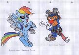 My Little Pony, Epic Mickey animatronic style 2 by ZurEnArhh
