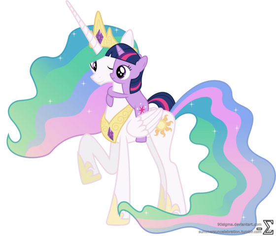 File:Princess celestia and twilight sparkle hugging 3 by 90sigma.png