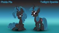 Pinkie Pie x Twilight Sparkle (changelings)