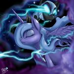 Princess Luna and Nightmare Moon by artist-starlightspark