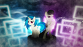 Vinyl Scratch and Octavia wallpaper by artist-mackaged and artist-romus91.png