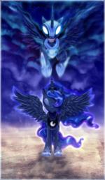 Princess Luna and Nightmare Moon wallpaper by artist-gardelius