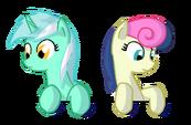 Lyra and Bon Bon in a box